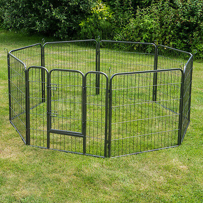 Large 8 Sided Heavy Duty Pet Playpen Metal Panel Cage Enclosure Dog Puppy