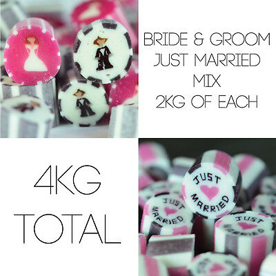 4kg Wedding Candy Mix - Groom & Brides & Just Married Wedding Favours