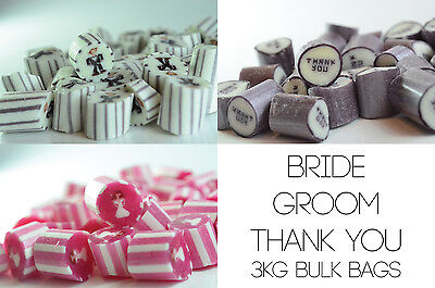 3kg Wedding Candy Mix - Groom, Brides and Thank You wedding favours