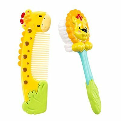 Sassy Jungle Soft Grip Comb and Brush Set New