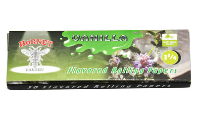 Hornet Flavoured Tobacco Cigarette Rolling Papers 32 Leaves 1 1/4 Vanilla