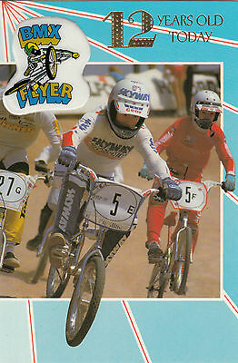 Vintage 1980's Skyway BMX Happy 12th Birthday Greeting Card ~12 Years Old