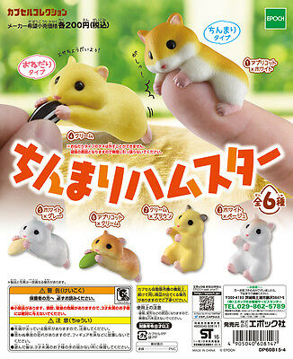 Epoch Capsule Animal Chinmari Cute Hamster ちんまりハムスター Completed Set 6pcs