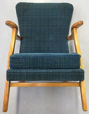 Superb Quality Retro Very Stylish Beech 1950S Quaint Armchair
