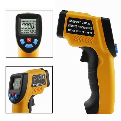 -50~380℃ Handheld Non-Contact Digital LCD Temp IR Laser Gun Infrared Thermometer