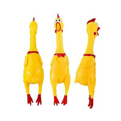 YH Small Screaming Rubber Chicken Squeaky Pet Bulk Tough Dog Chew Treat Toy Gift
