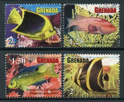Grenada 2010 MNH Fish Definitives 4v Set Marine Damselfish Fishes Stamps