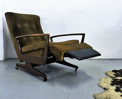 Superb Quality Very Stylish Vintage Retro Mid Century Reclining Armchair