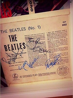 The Beatles 'No.1' Mono EP1963 Framed with autographs