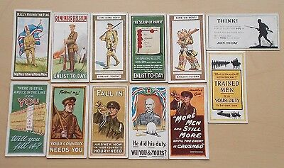 cigarette cards WILLS RECRUITING POSTERS FULL SET
