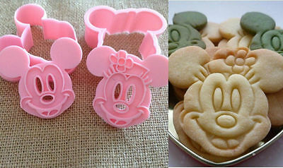 Minnie Mouse Mickey Mouse Cookie/ Cutter/mould  Set 2 Piece