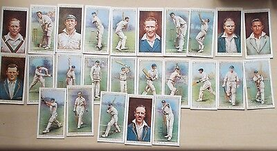 cigarette cards WILLS CRICKETERS 1928 FULL SET