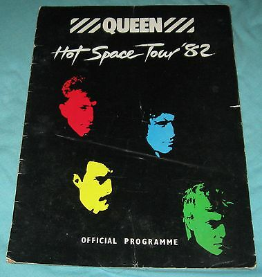 Queen Hot Space Tour Program Book Mercury Freddie 1982