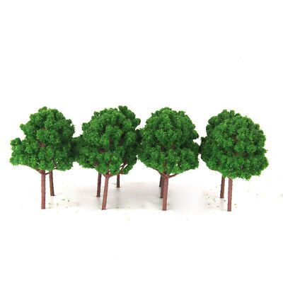 10pcs Green Branched Trees Model Train Railway Diorama Scenery - HO Scale 1/100