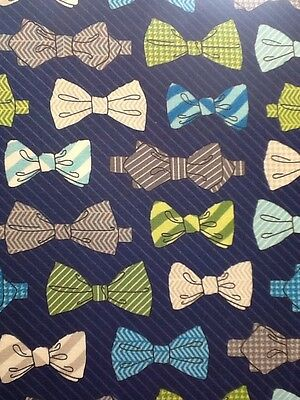 Fat Quarter Fox And The Houndstooth Bow Ties Cotton Quilting Fabric Robert Kauf