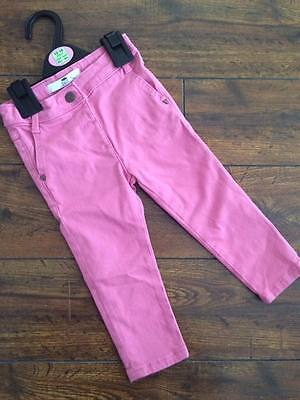 New baby Girls ex faM&S high st pink skinny jeans age 12-18 18-24 months