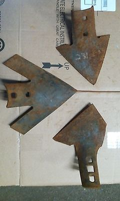lot of 3 vintage plow blades rustic barn find