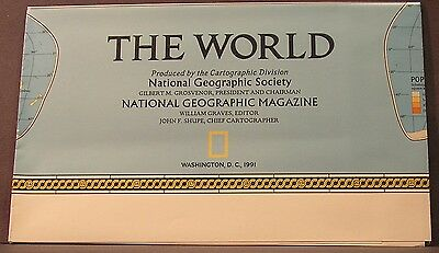 1991 National Geographic The World Map