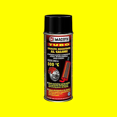 MACOTA Alte Temperature Vernice Spray Pinze Freno Marmitte Tuning Tubo nero