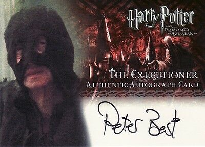 Harry Potter Prisoner of Azkaban Update Peter Best as The Executioner Auto Card