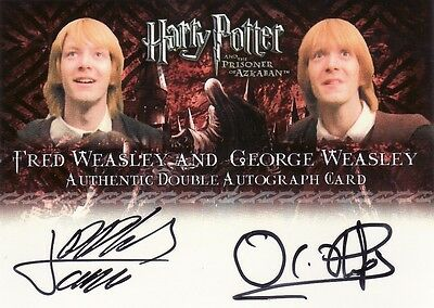 Harry Potter Prisoner of Azkaban Update James & Oliver Phelps Dual Auto Card