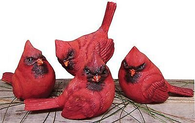 Cardinal - Figurine Set of 4 - Country Realistic Resin Figures