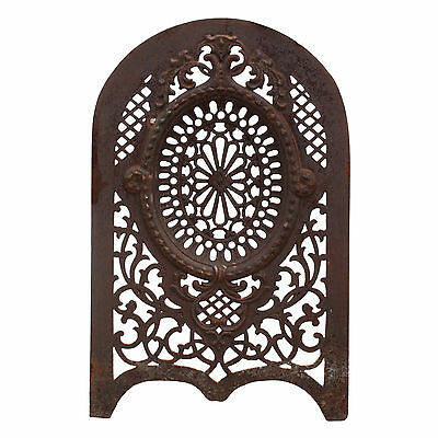 Antique Cast Iron Summer Cover with Pierced Detailing, NSC59