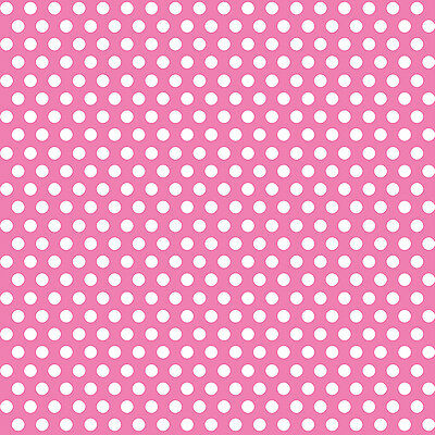 "Decorative Dots Gift Wrap 30""X5' Roll Hot Pink DOTGW-43239"