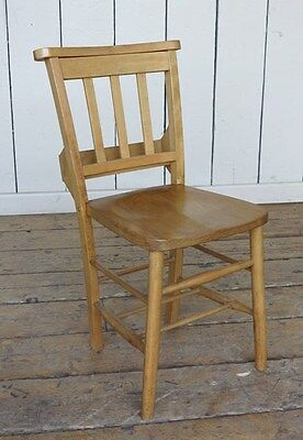 Antique Wooden Church Chairs - Reclaimed Old Antique Chapel Chairs - Seat