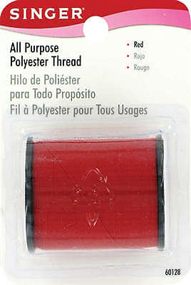 All Purpose Polyester Thread 150yd Red 60000-60128