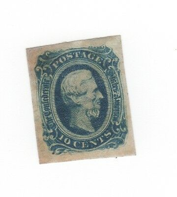 CSA 11 Unused NG 1863 10¢ Jefferson Davis.