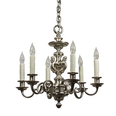 Incredible Antique Figural Silver-Plated Chandelier by E.F. Caldwell, NC2151