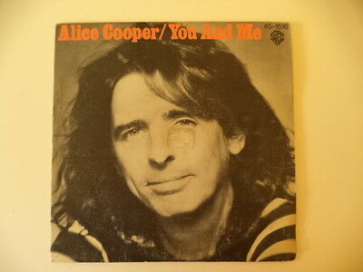 """Alice Cooper.  Single 7"""" You And Me.  Heavy"""