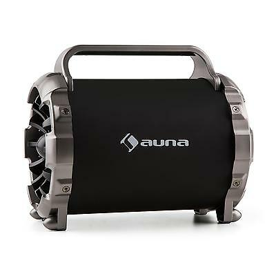 Auna Boombox Stereo Bluetooth Speaker Hifi Portable Led Aux Sd Usb Fm *free P&p*