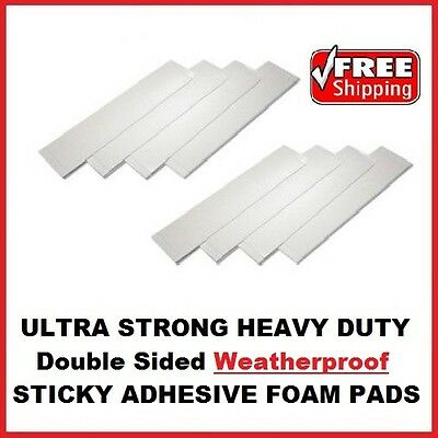 24x Number Plate Double Sided Foam Adhesive Fixing Pads Weatherproof Sticky Pads