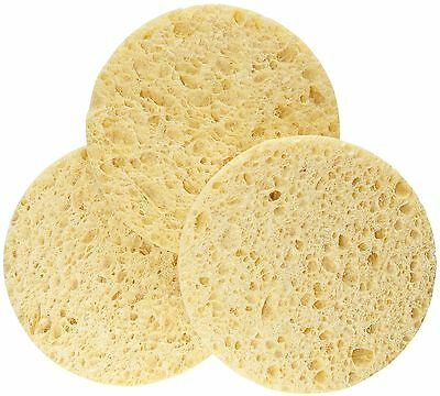 """50 Pcs Natural Cellulose Cleansing Facial Sponges 3"""" Round"""