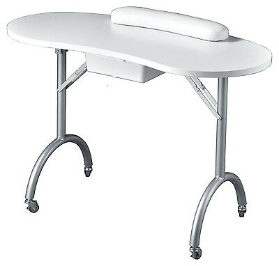 Portable Manicure Nail Table Curve (Leg Folded) w/ Carry Bag