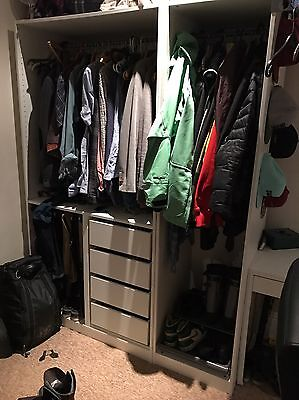 pax ikea Triple Wardrobe With Drawers, Trouser Hanger And Shoe Storage.