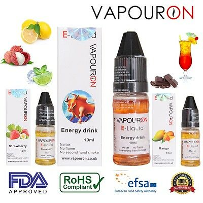 Vapouron E Liquid  Select Flavour 10ml Vape Pen Cig Juice Oil - BUY 2 GET 1 FREE