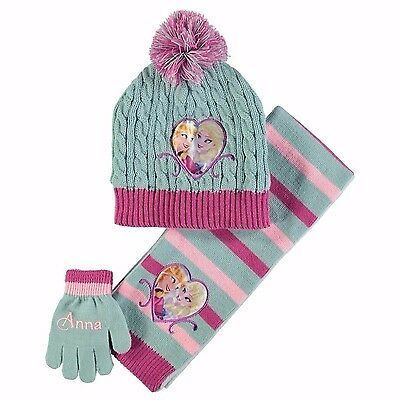 Kids Unisex Branded Character Hat Gloves Scarf 3 Piece Winter Accessory Set