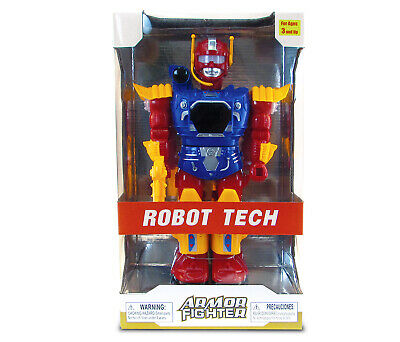 Mozlly  Battery Operated Blue Armor Fighter Action Figure
