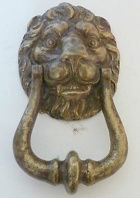 Antique Victorian Lion Head Cast Brass Door Knocker Excellent condition