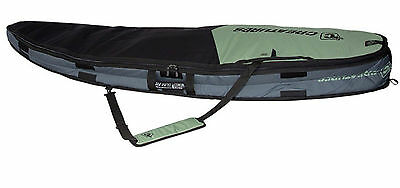 """Creatures Travel Cover 10mm Universal Double Surfboard Bag (Slate Black, 6'3"""")"""