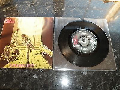 Iron Maiden Running Free Rare A-Label Demo With Picture Sleeve Excellent++