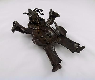 Superb Antique Bronze Match Holder & Striker In Design Of a Clown Circa 1890