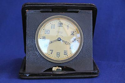 Old Antique Mappin 8 Day Travel Clock