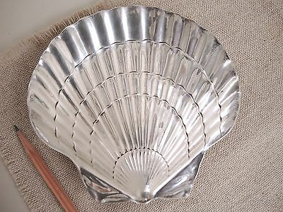 """Tiffany & Co Makers Sterling Silver Shell Dish 6"""" Bowl Plate Scallop Vtg 200 g"""