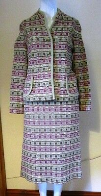 Vintage Fulton London Knitted Skirt Suit 60s/70s - Size 10/12
