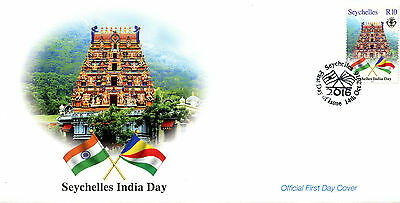 Seychelles 2016 FDC India Day 1v Set Cover Flags Stamps
