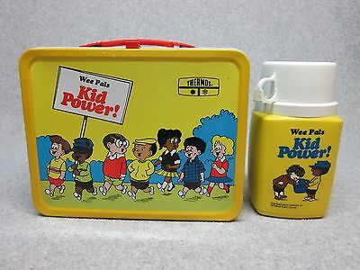 Best On eBay 1974 Wee Pals KID POWER LUNCHBOX & THERMOS MiNt Unused C#9.8